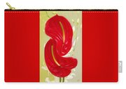 Celebration - Red Anthurium And White Orchids  Carry-all Pouch
