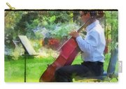 Cellist In The Garden Carry-all Pouch