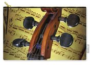 Cello Scroll With Sheet Music Carry-all Pouch