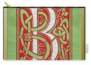Celtic Christmas B Initial Carry-all Pouch
