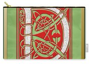 Celtic Christmas D Initial Carry-all Pouch