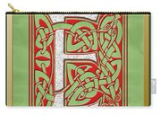 Celtic Christmas E Initial Carry-all Pouch