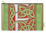 Celtic Christmas F Initial Carry-all Pouch