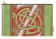 Celtic Christmas Initial Z Carry-all Pouch