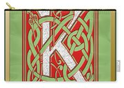 Celtic Christmas K Initial Carry-all Pouch