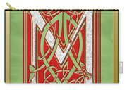 Celtic Christmas M Initial Carry-all Pouch