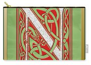 Celtic Christmas N Initial Carry-all Pouch