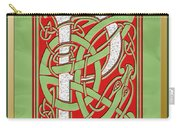 Celtic Christmas P Initial Carry-all Pouch