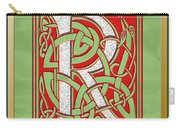 Celtic Christmas R Initial Carry-all Pouch