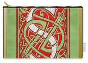 Celtic Christmas S Initial Carry-all Pouch