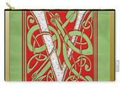 Celtic Christmas V Initial Carry-all Pouch