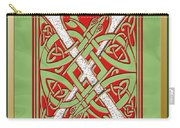 Celtic Christmas X Initial Carry-all Pouch