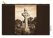 Celtic Cross In Sepia 1 Carry-all Pouch