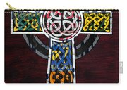 Celtic Cross License Plate Art Recycled Mosaic On Wood Board Carry-all Pouch