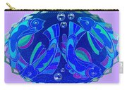 Celtic Fish On Blue And Lavender Carry-all Pouch