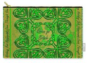 Celtic Irish Clover Home Blessing Carry-all Pouch