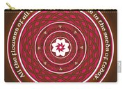 Celtic Lotus Mandala In Pink And Brown Carry-all Pouch