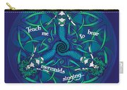 Celtic Mermaid Mandala In Blue And Green Carry-all Pouch