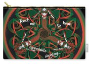 Celtic Mermaid Mandala In Orange And Green Carry-all Pouch