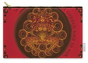 Celtic Pagan Fertility Goddess In Red Carry-all Pouch