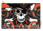 Celtic Spiral Pirate In Orange And Black Carry-all Pouch