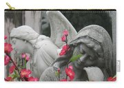 Cemetery Stone Angels And Flowers Carry-all Pouch