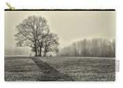 Cemetery Trees In The Fog E185 Carry-all Pouch