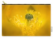 Center Of A Yellow Cactus Flower Carry-all Pouch