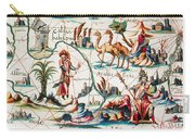 Central Asia Pierre Descelierss Map Carry-all Pouch by Photo Researchers