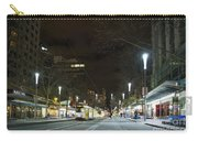 Central Melbourne Street At Night In Australia Carry-all Pouch