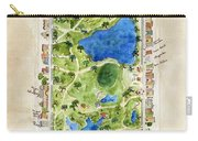 Central Park And All That Surrounds It Carry-all Pouch