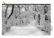 Central Park Dressed Up In White Carry-all Pouch