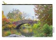 Central Park Gapstow Bridge Autumn II Carry-all Pouch
