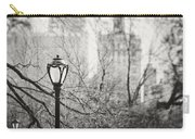 Central Park Lamppost In New York City Carry-all Pouch