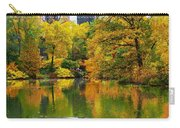 Central Park Pond Autumn Reflections Carry-all Pouch
