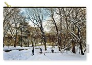 Central Park Snow Storm One Day Later2 Carry-all Pouch