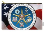 Central Security Service - C S S Emblem Over American Flag Carry-all Pouch
