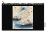 Centurion Trawl Fishing Boat Nautical Chart Art Carry-all Pouch