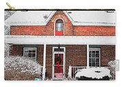 Century Home With Christmas Wreath Carry-all Pouch