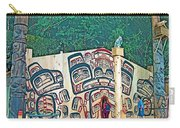 Ceremonial Lodge In Canadian Museum Of Civilization In Gatineau- Carry-all Pouch