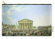 Ceremony Of Laying The First Stone Of The New Church Of St. Genevieve In 1763, 1764 Oil On Canvas Carry-all Pouch