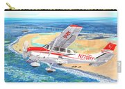 Cessna 206 Flying Over The Outer Banks Carry-all Pouch