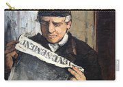 Cezanne's Father Reading Le Evenement Carry-all Pouch