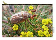 Chafer Beetle On Medusa Succulent Carry-all Pouch