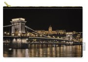 Chain Bridge And Buda Castle Winter Night Carry-all Pouch