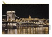 Chain Bridge And Buda Castle Winter Night Painterly Carry-all Pouch