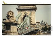 Chain Bridge Crossing The Danube River Carry-all Pouch