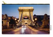 Chain Bridge In Budapest At Night Carry-all Pouch