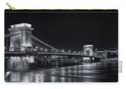 Chain Bridge Night Bw Carry-all Pouch