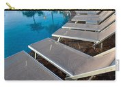 Chairs Around Hotel Pool Carry-all Pouch by Brandon Bourdages